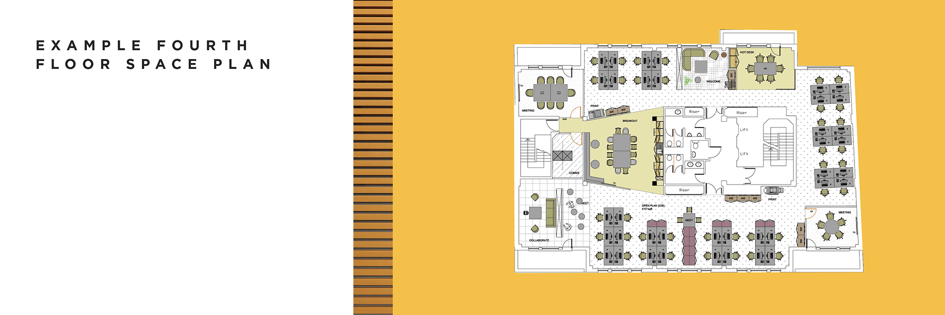 Fourth floor space plan